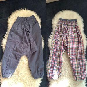 Reversible Harem pants drop crotch unisex S/M